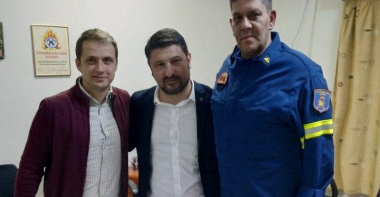 Με το σωματείο των Πυροσβεστών συναντήθηκε ο Γ.Γ. Πολιτικής Προστασίας στη Λάρισα