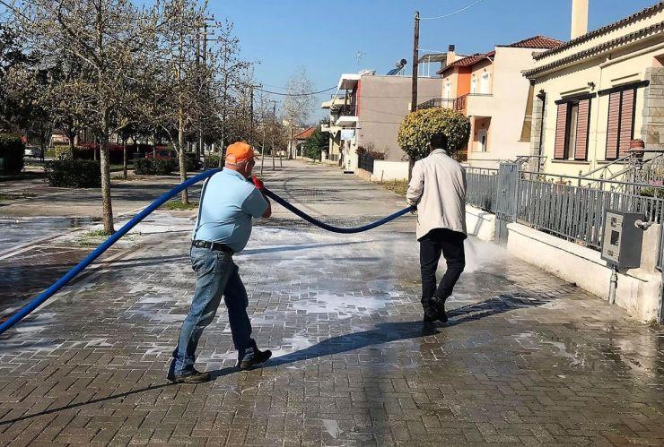Ξεκίνησε ο καθαρισμός – απολύμανση των δρόμων εντός των οικισμών στο Δήμο Κιλελέρ
