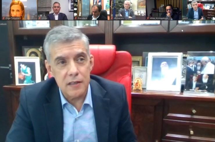 Στήριξη επιχειρήσεων και αγροτικής οικονομίας στο επίκεντρο της διαδικτυακής συζήτησης του δήμου Λαρισαίων - Η μετά κορωνοϊού εποχή (φωτο)