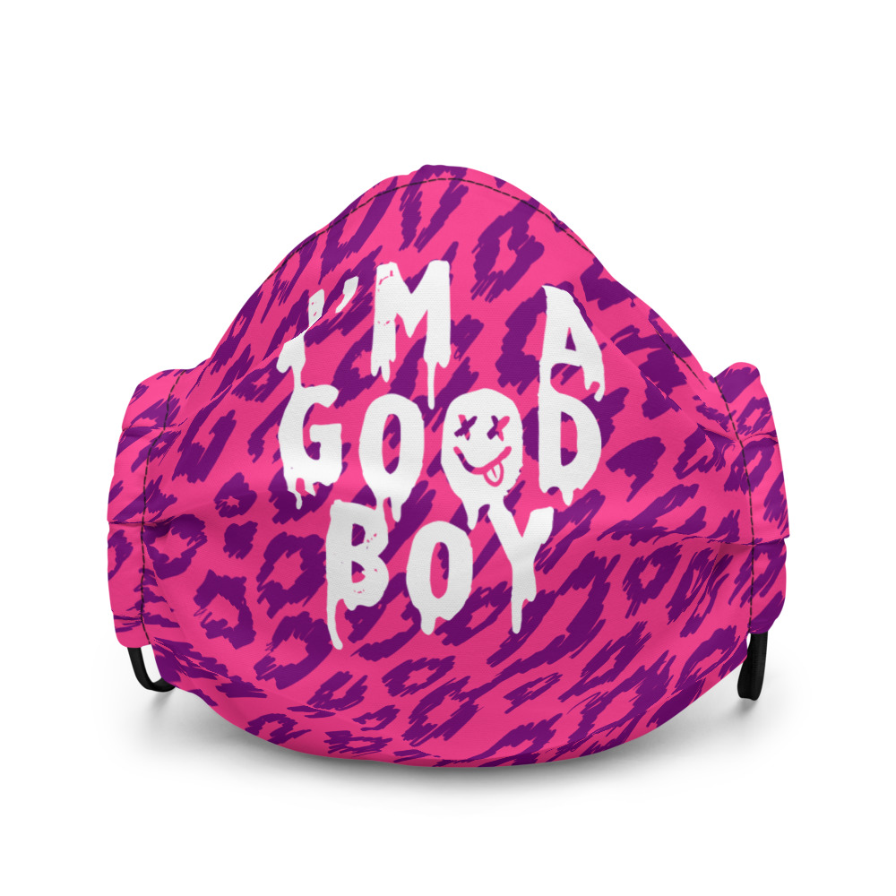 "Featured image for ""I'm a Good Boy - pink - Premium face mask"""