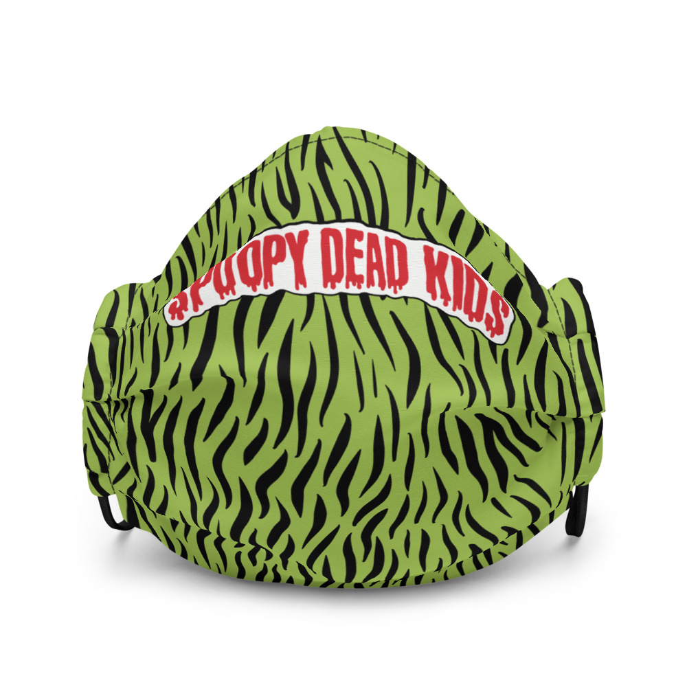 "Featured image for ""Spoopy Dead Kids - green -Premium face mask"""