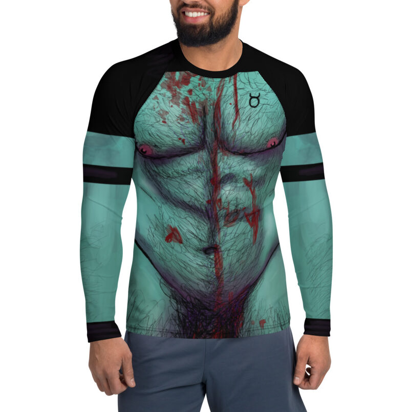 "Featured image for ""Zombie Daddy body Men's Rash Guard Top / Club Kid / Halloween / Cosplay"""