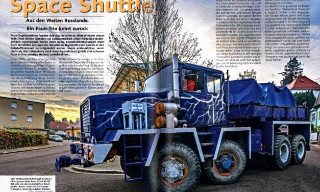 """Erfolgreiche Spezialprojekte:  """"Historischer Kraftverkehr"""" berichtet über die FAUN-Transporte von Sachsenland"""