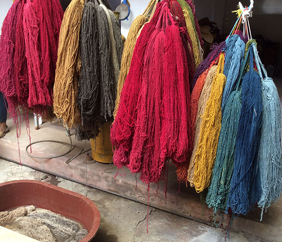 Examples of natural dye colors derived from cochineal, indigo, marigold and more.