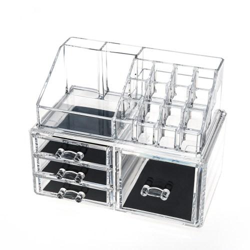 Acrylic Jewelry & Makeup Organizer Series(4 Drawers)