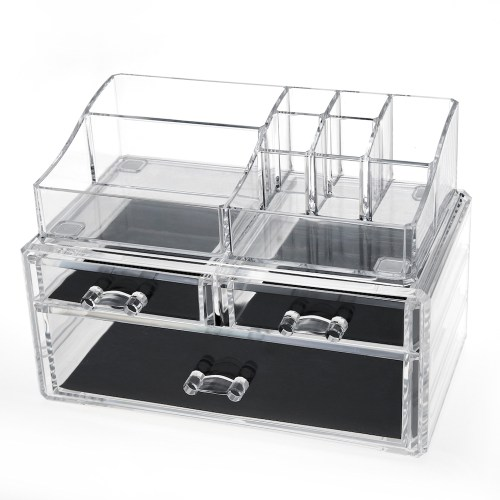 Acrylic Cosmetic Storage Makeup Organizer Series (3 Drawers)