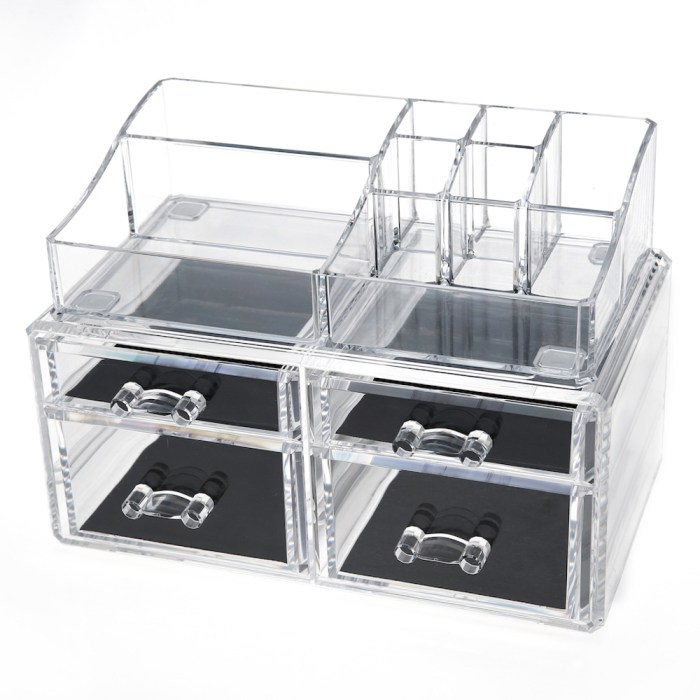 Acrylic Cosmetic Storage Makeup Organizer Series (4 Drawers)