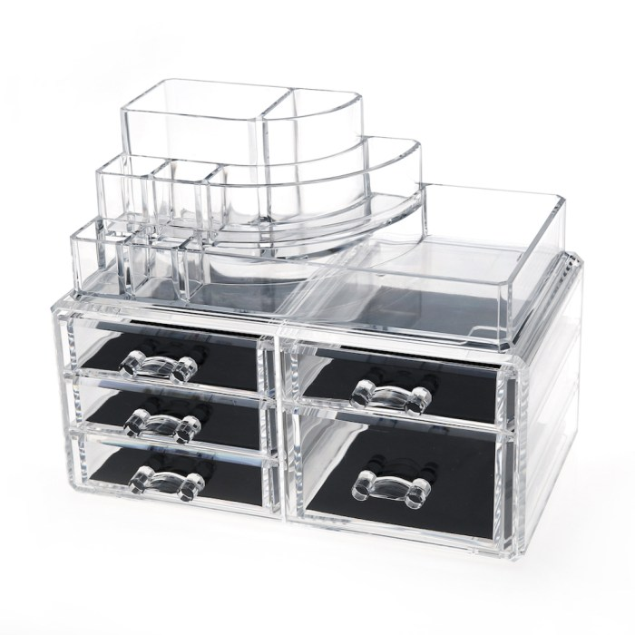 Desktop Clear Acrylic Lipstick and Cosmetic Organizer Series (5 Drawers)