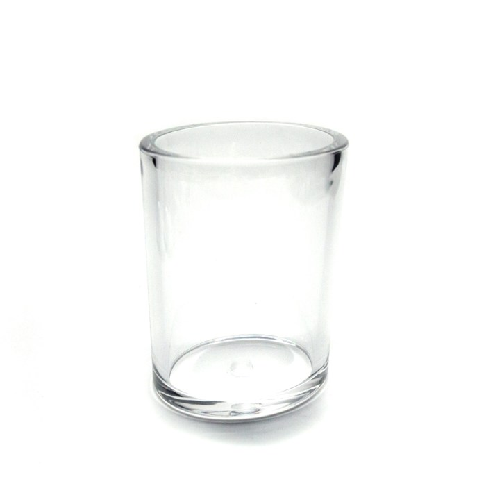 New Clear Acrylic Oval Transparent Bottle Clear