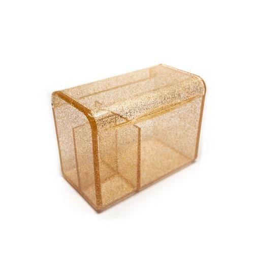 Acrylic Flipping Lid Organizer Glitter Gold