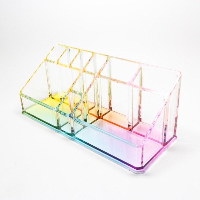 Countertop Office Sundries Stand Organizer Rainbow