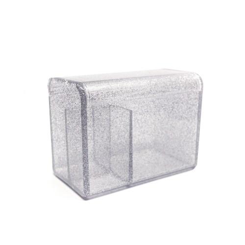 Acrylic Flipping Lid Organizer Glitter Sliver