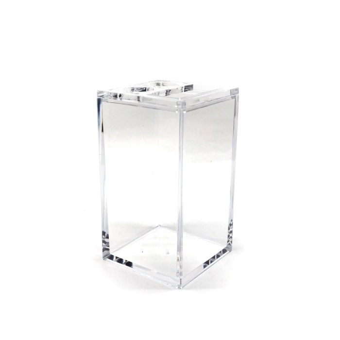 Rectangle Accessories Bath Toothpaste Holder Clear