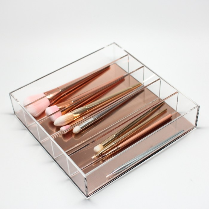 Rose Gold Acrylic Desktop 5 Partition Organizer