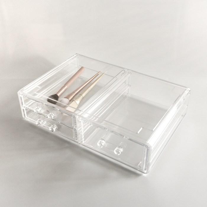 Large Transparent Multipurpose Storage Box With 3 Drawers