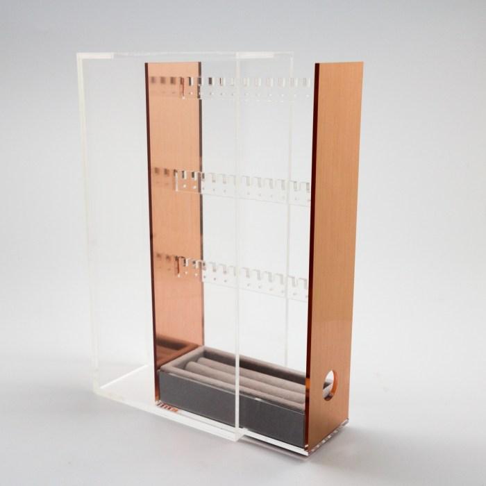 rose gold jewelry accessories storage box