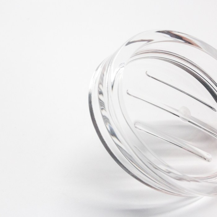 New Clear Acrylic Oval Soap Dish Holder Clear