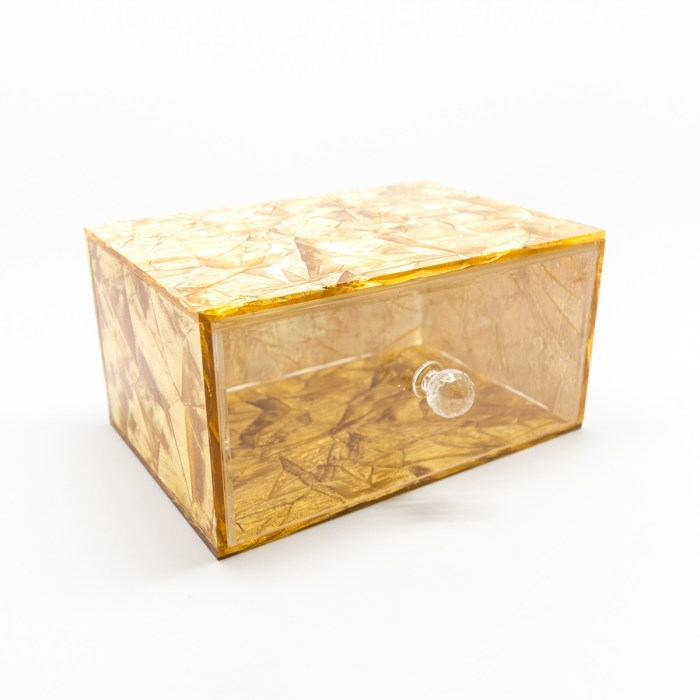 Hand-made Single Drawer Organizer Cloth Gold