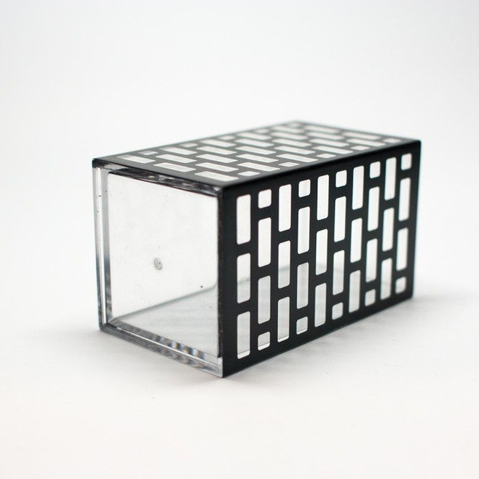 Acrylic Mold Injection Bathroom Organizer Black Block