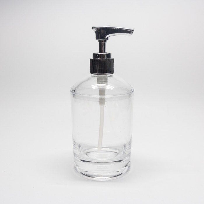 Smooth Cylindrical Shampoo Dispenser Clear