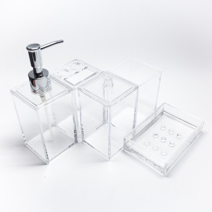 Rectangle 5 Pcs Bathroom Accessories Set