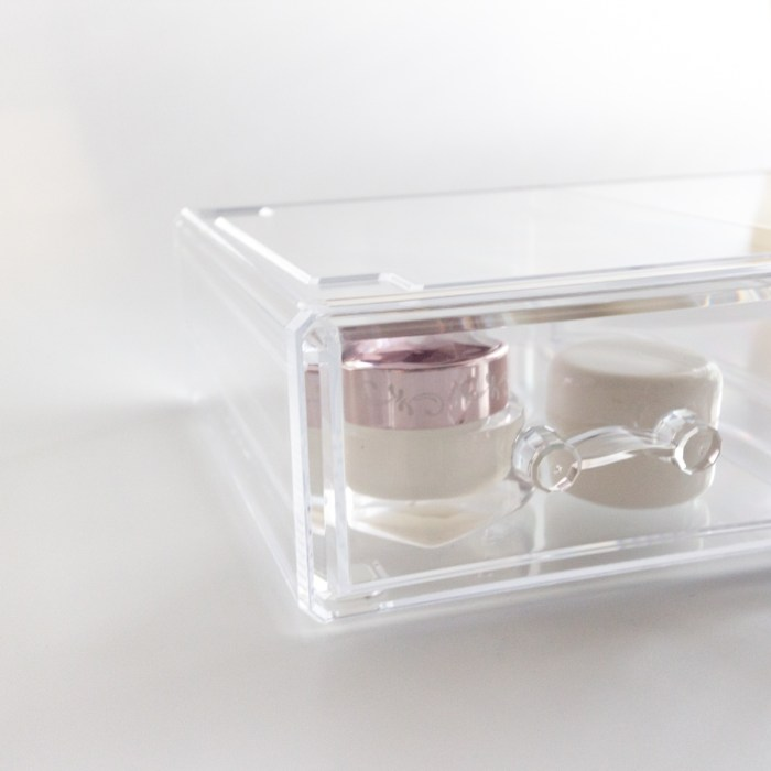 Large Transparent Multipurpose Storage Box With 2 Drawers