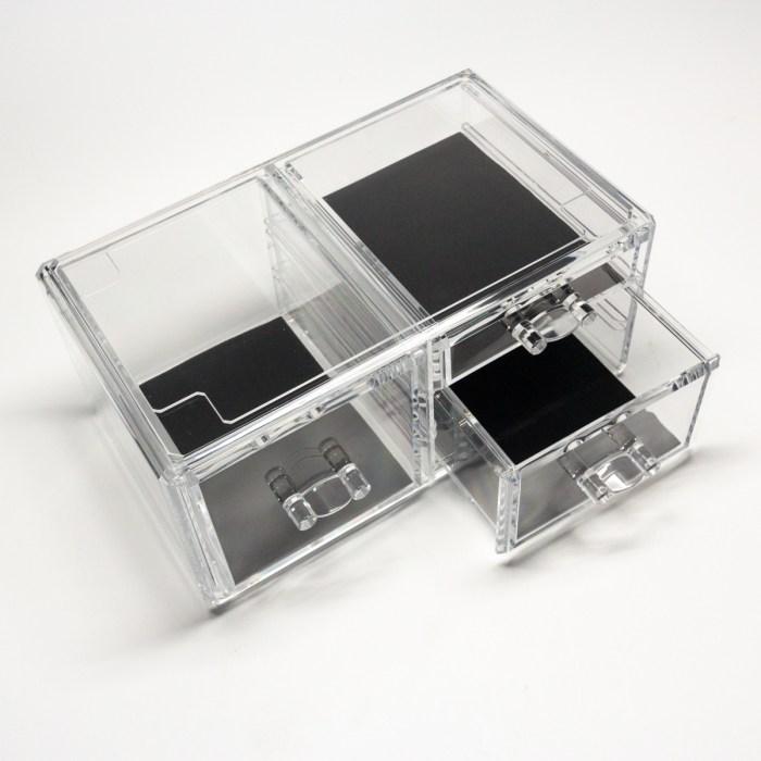 Transparent Multipurpose Storage Box With 3 Drawers