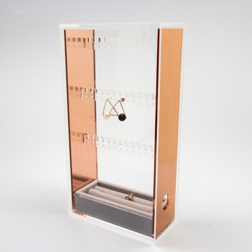 rose gold jewelry accessories storage box