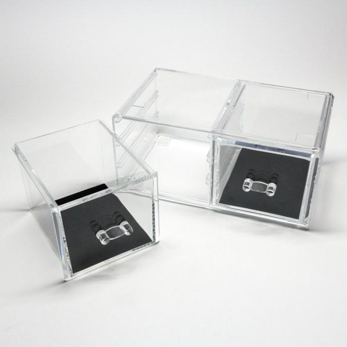 Transparent Multipurpose Storage Box With 2 Drawers