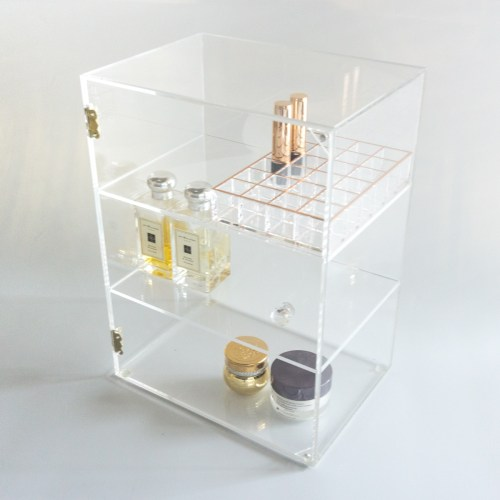 Acrylic Large 3 Layer Anti Dusti Cosmetic Cabinet