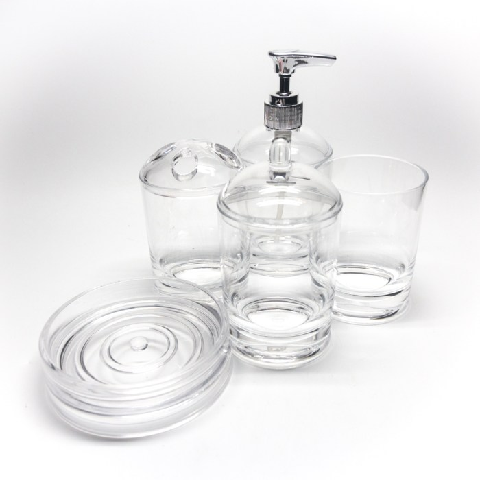 Smooth Cylindrical Series Bath Accessories Set
