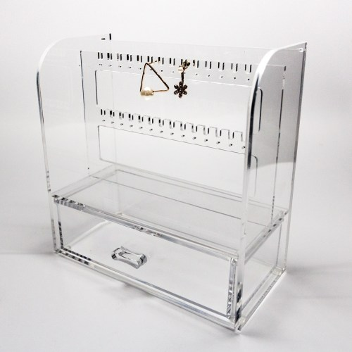 Acrylic Hanging Earring Organizer with Drawer