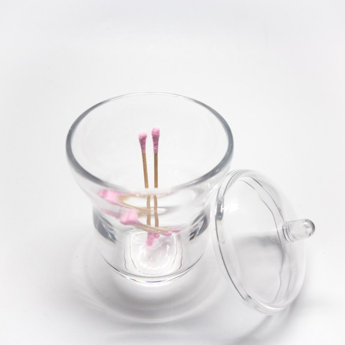 Countertop Curvy Shapes Jar With Lid Clear