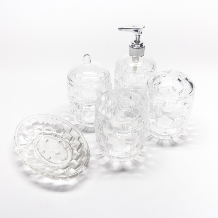 Bricks Creative 5 Pcs Bathroom Accessories Set