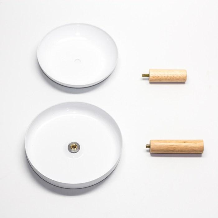 Wood coating double layers tray