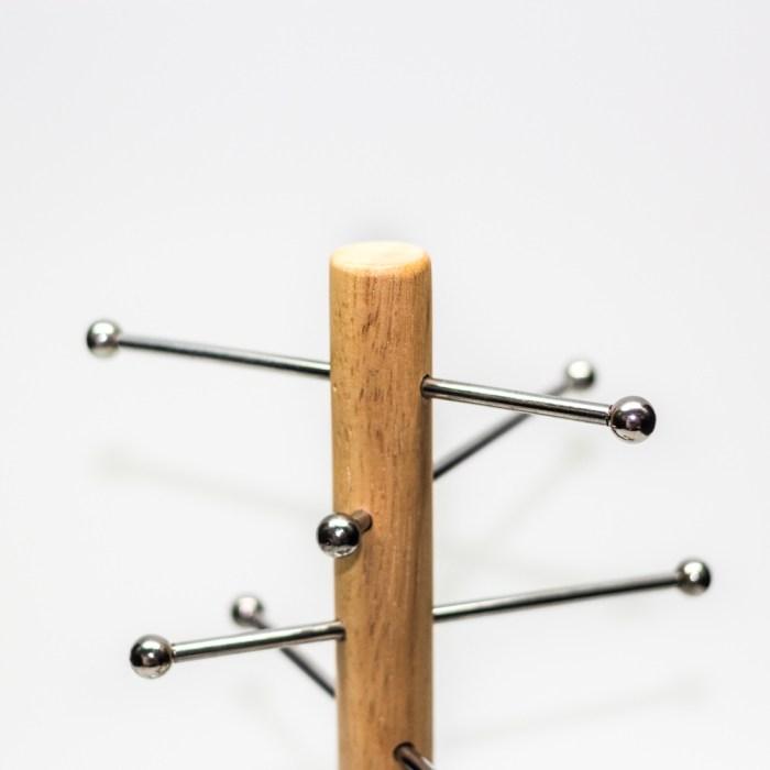 Adjustable wood coating iron jewelry organizer