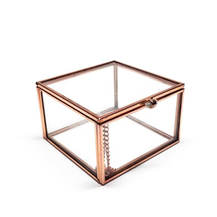 Rose Gold Vintage Decorative Glass Box