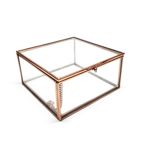 Luxury Gold Beauty Organizer Box with Lid