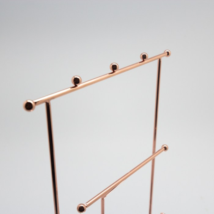 Rose Gold Necklace Earring Accessory Display