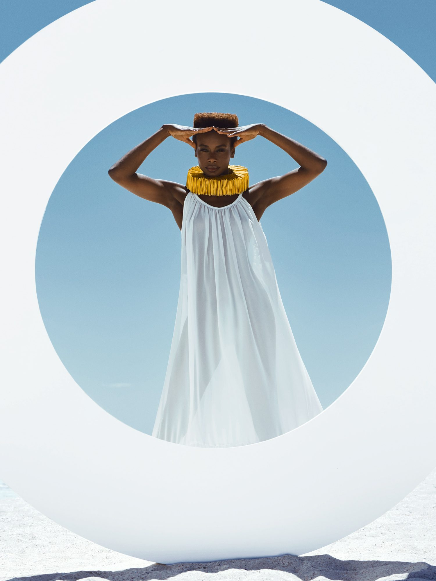 astrid obert photography presents ONE editorial fashion beach black woman dresses designer