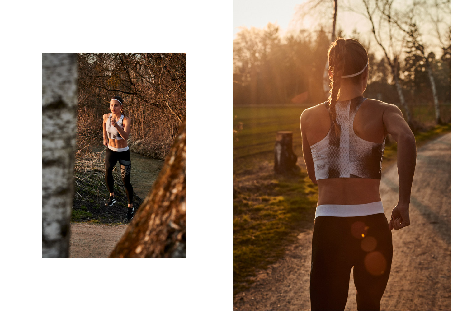 astrid m obert photography presents adidas by Stella McCartney with paulina_h fitness girl sport running