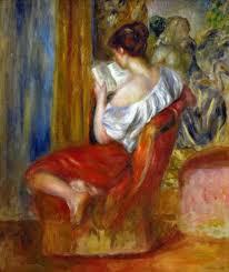Pierre Auguste Renoir reading woman