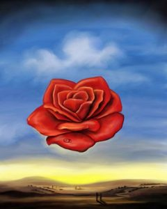 Salvador Dali The Meditative Rose