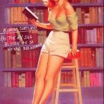 Ho tok av seg blusen og sa ho var bibliotekar