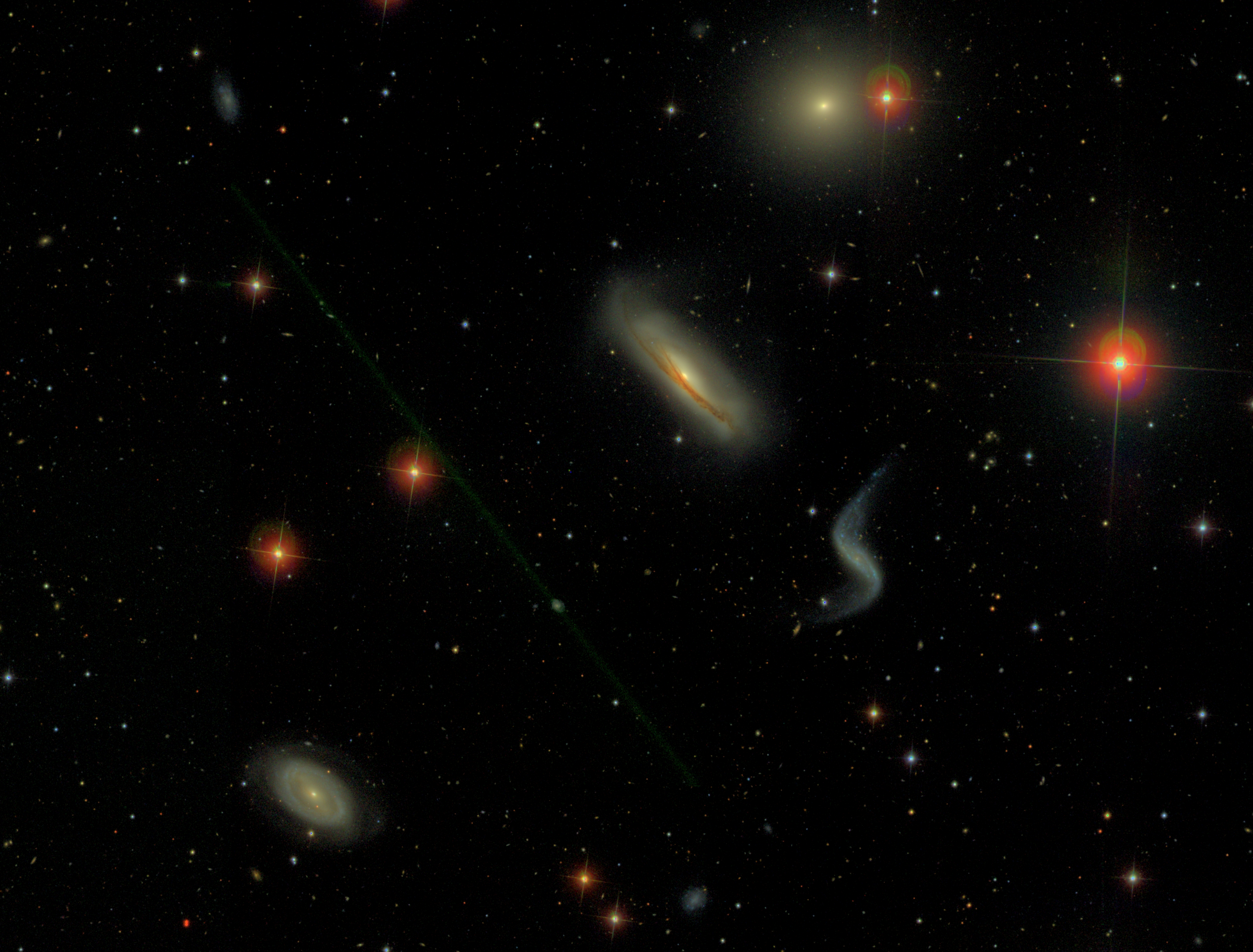 Some SINGS Galaxies as observed by SDSS