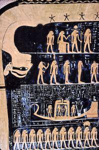 Nut, la diosa egipcia del cielo.