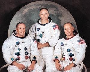 La tripulación de la misión Apolo 11. Crédito: NASA