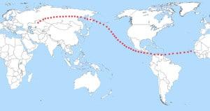 Para el paso en 2036, esta era la posible zona de peligro de Apofis (donde podía impactar el asteroide).