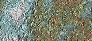 Detalle de la superficie de Europa