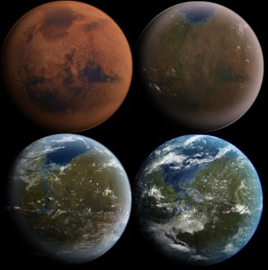 Cómo podría ser el proceso de terraformación de Marte para convertirlo en un planeta como la Tierra